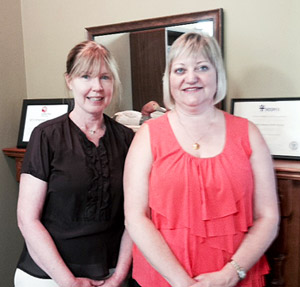 Executive Director Susan Melkert (left) and Board President Bonnie Mulligan